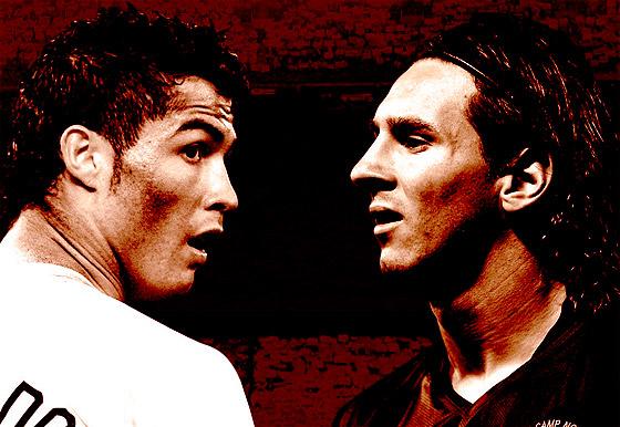 Förmodligen världens två bästa spelare just nu. Cristiano Ronaldo och Lionel Messi.