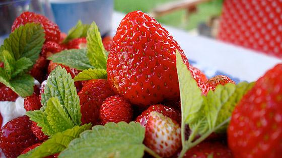 En fin midsommar där det bjöds på riktigt god jordgubbstårta.