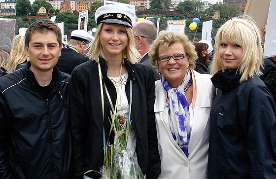 Vi tog emot en glad, nybliven student på Riddarholmen.