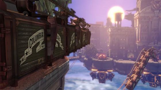 Bioshock Infinite utspelar sig ovanför molnen i staden Columbia.