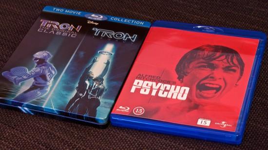 Tron och Psycho på Blu-ray.