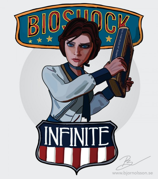 Elizabeth från Bioshock Infinite.