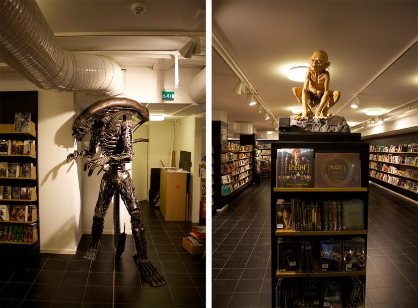 Science Fiction-bokhandeln hade fått nya lokaler. Där hittade jag dessa killar.
