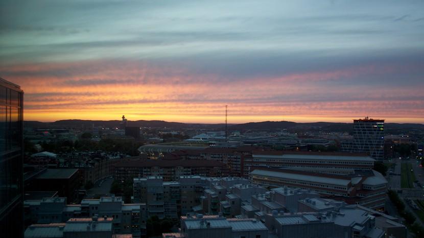 Utsikt från vårt hotellrum.