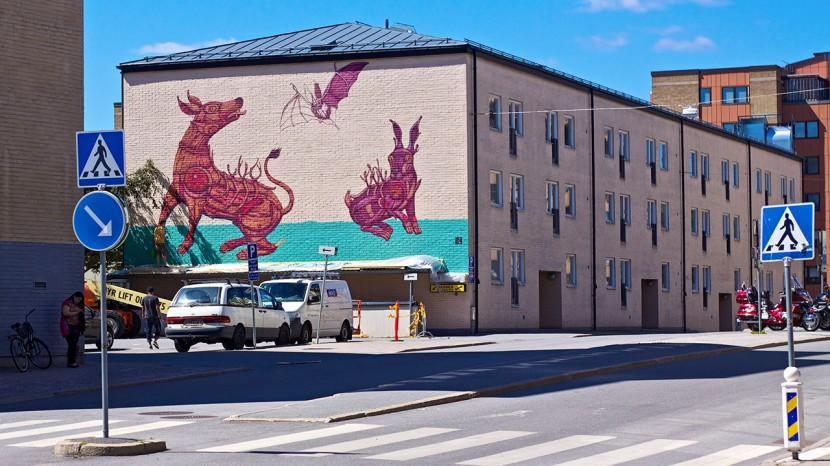 En ny grafittimålning som en del av Open Art.