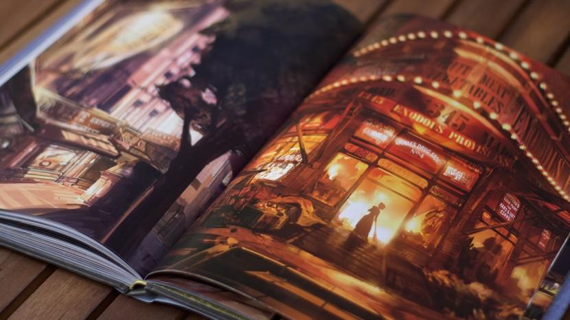 Miljöerna i Bioshock Infinite är fantastiska och något jag gärna hade sett ännu mer av i boken.