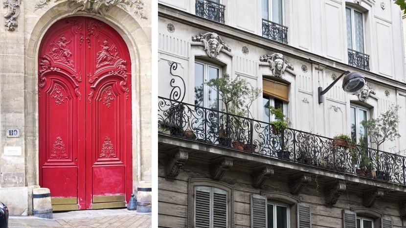 Dessa fantastiska portar och vackra husfasader finns praktiskt taget överallt i Paris. Ljuvligt!