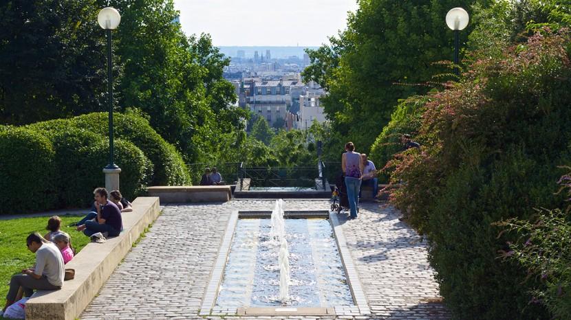 Att Parc de Belleville är Paris högst belägna park innebar att man hade hyfsad utsikt.
