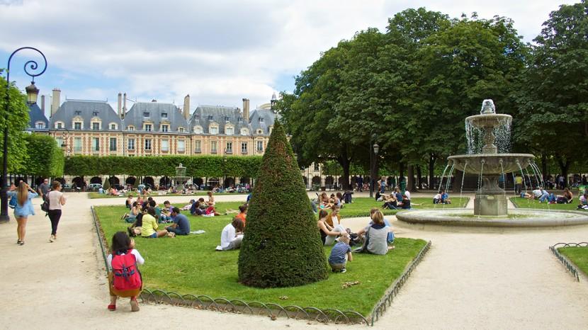 Place des Vosges var vackert.