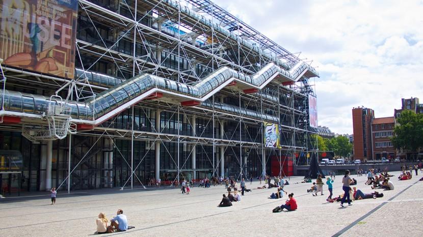 Centre Pompidou, ett konstverk i sig.