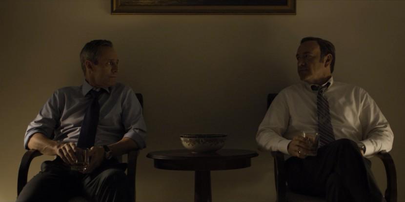 President Walker och Frank Underwood delar en stund tillsammans en sen kväll i Vita huset.