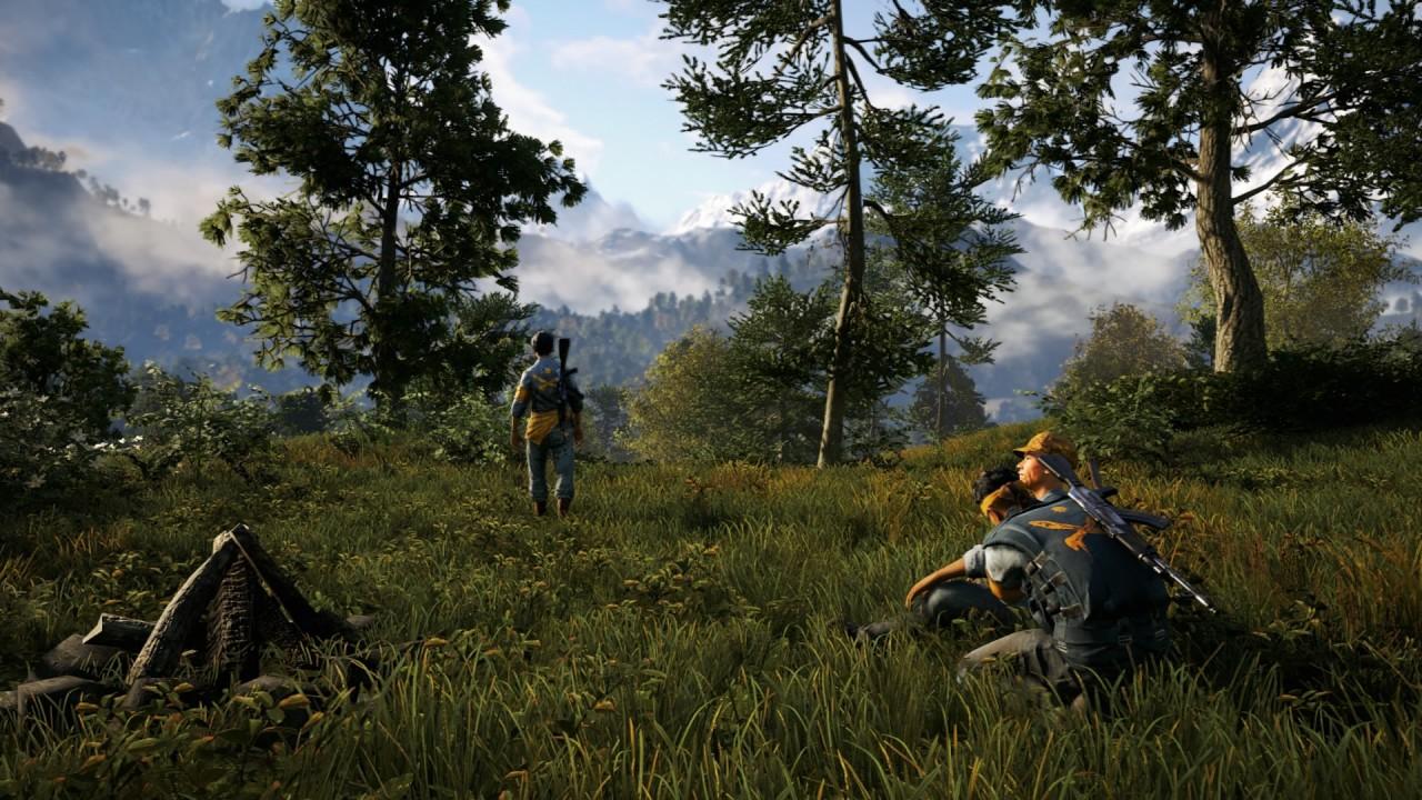 Rebeller från Den gyllene stigen tar igen sig mellan striderna.