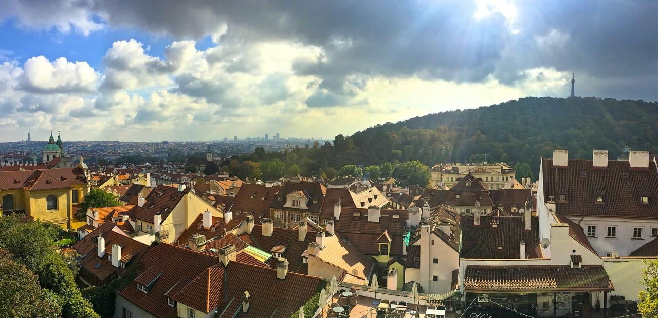 Utsikten från Pragborgen är riktigt vacker.
